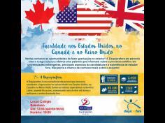 Convite - Palestra sobre oportunidades de bolsas de estudo em universidades do exterior